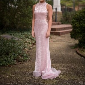 Jovani (63552) Blush Pink Formal Dress